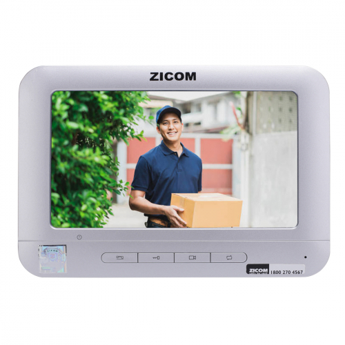 Zicom 7 inch Video Door Phone Colorful TFT LCD