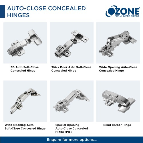 Auto Close Concealed Hinges