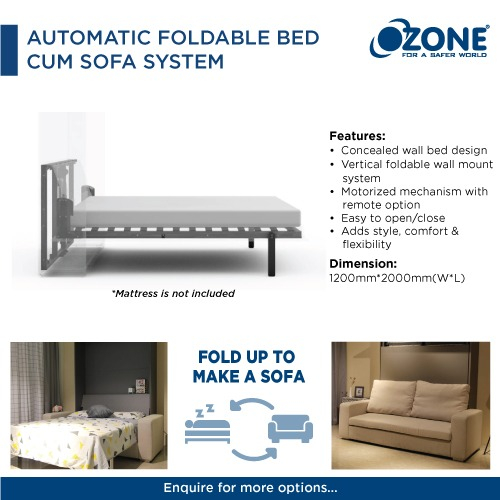 Automatic Foldable Bed Cum Sofa System