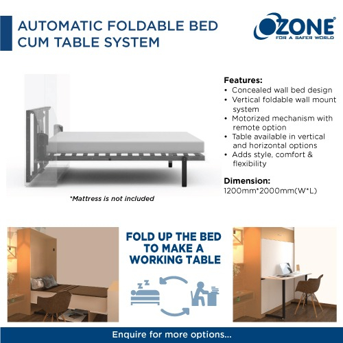 Automatic Foldable Bed Cum Table System