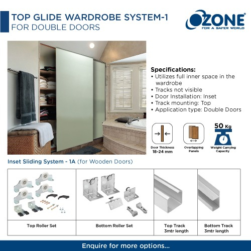 Top Glide Wardrobe System -1 For Double Doors